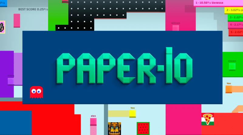 Dokážete být nejlepším hráčem v io hře Paper.io?