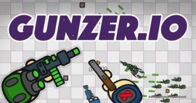 Střílení, zabíjení, akce to je io hra Gunzer.io.